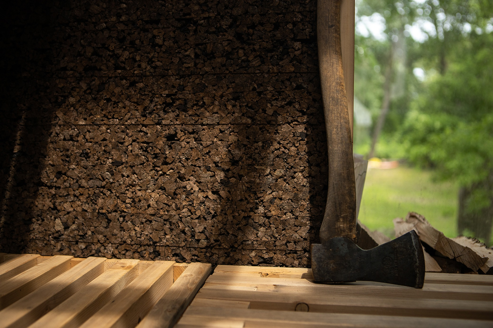 Design-Built Cork Sauna